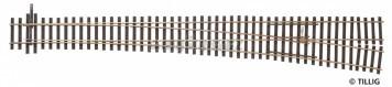 H0 - TILLIG ELITE výhybka pravá EW5 361mm/9,4° - R2200