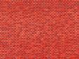 H0/TT -  lepenka se vzorem červeného cihlového zdiva 5 ks