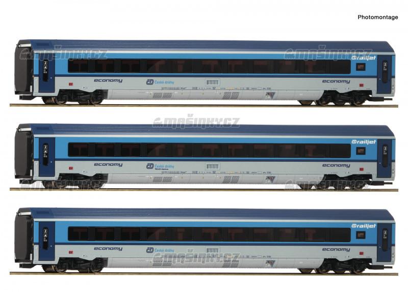 H0 - Třídílný set vozů Railjet - ČD (analog) #1