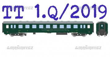 TT - Osobní vůz Bai 4-3484 Praha - ČSD
