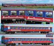 H0 - Set čtyř vozů Bahn Touristik Express (BTE)
