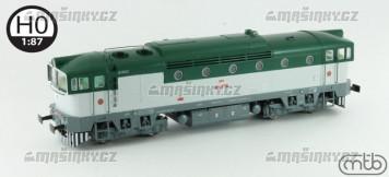 H0 - Dieselová lokomotiva T478.3001 - ČSD (analog)