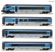 H0 - Čtyřdílný set vozů Railjet s řídícím vozem - ČD (analog)