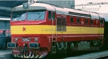 TT - Dieselová lokomotiva řady T 478.1- ČSD (červená/žlutá)