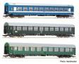 """H0 - Set tří osobních vozů D270 """"Meridian"""" 2, DR, CSD, MAV"""