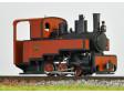 H0e - Parní lokomotiva Decauville Progres - červeno/černá