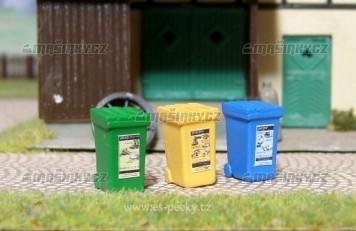 H0 - Popelnice na tříděný odpad