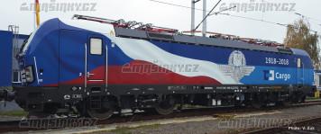 H0 - Elektrická lokomotiva 383 009-8 - ČD Cargo (analog)
