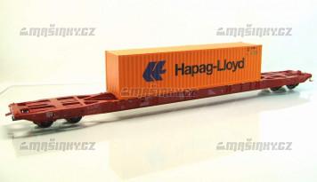 H0 - Plošinový vůz Sggnss Metrans + Hapag Lloyd