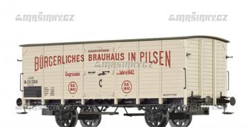 """H0 - Uzavřený pivní vůz GB """"Brauhaus Pilsen"""" - K.K.St.B."""