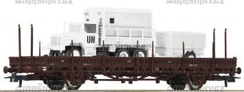 H0 - Plošinový vůz ÖBB s nákladem GMC M35, ÖBH
