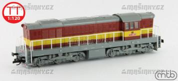 TT - Diesel-elektrická lokomotiva 771 166 - ČD (analog)