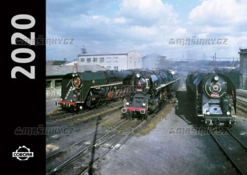 Kalendář nástěnný 2020 lokomotivy (malý)