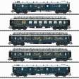 """H0 - Pět rychlíkových vozů CIWL - Set 1 """"Simplon-Orient-Express"""""""