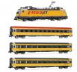 N - Čtyřdílný set lokomotiva 386 a tři vozy 'RegioJet' CZ (analog)