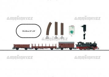 H0 - Startovací set nákladní vlak s parní lokomotivou - DB (analog)