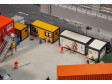 H0 - 4 kontejnery, žlutá-černá / šedá-černá