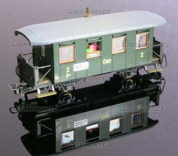 H0e - Osobní vůz řady Bi/ú - ČSD