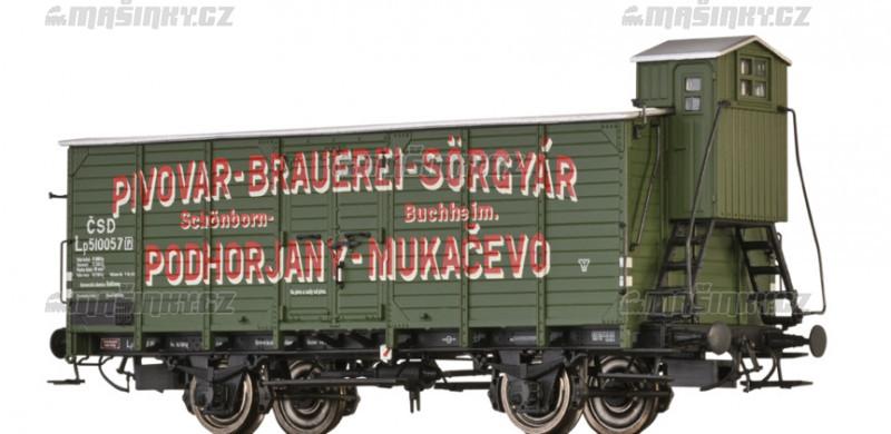 """H0 - Uzavřený vůz Lp """"Pivovar Mukačevo"""" - ČSD #1"""