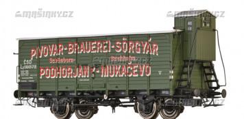 """H0 - Uzavřený vůz Lp """"Pivovar Mukačevo"""" - ČSD"""