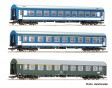 """H0 - Set tří osobních vozů D270 """"Meridian"""" , DR, MAV"""