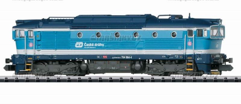 """N - Motorová lokomotiva """"brejlovec"""" ČD Najbrt (DCC, zvuk) #1"""