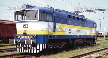 H0 - Dieselová lokomotiva 754 058-6 - ČD (analog)