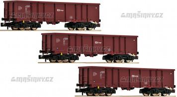 N - Set tří otevřených vozů Eas - ČD Cargo