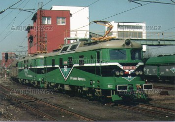 Pohlednice - Dvojice el.Lokomotiv 130,045 a 130.053 v Tušimicích