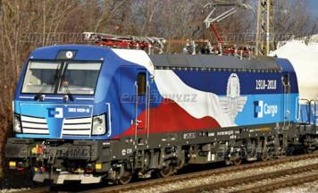 """TT - El. lok. 383 009-8 """"100 let České republiky"""", ČD Cargo (analog)"""