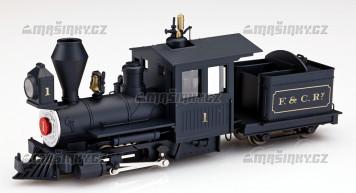 H0e - Úzkorozchodná parní lokomotiva Fiddletown & Copperopolis (analog)