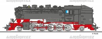 H0m - Úzkorozchodná parní lokomotiva 99 222 - DR (analog)