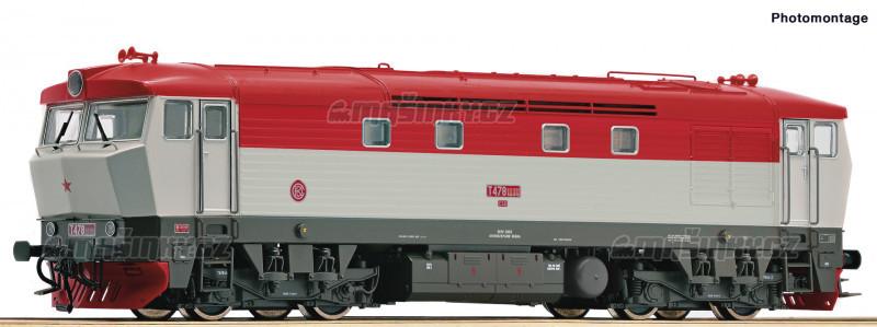 H0 - Dieselová lokomotiva 478.2 - ČSD (DCC, zvuk) #1