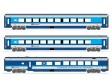 N - Třídílná jednotka vozů RailJet 1. + 2.třída a jídelní vůz  - ČD