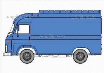 H0 - Avia Furgon modrá -II