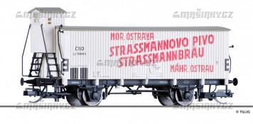 """TT - Uzavřený pivní vůz """"Strassmannovo pivo Ostrava"""" - ČSD"""