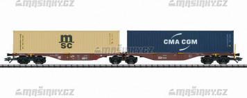 H0 - Set dvou kontejnerových vozů Sggrss 80 - CD Cargo a.s.