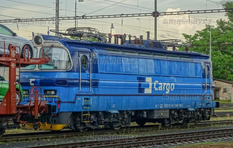 """H0 - Elektrická lokomotiva 240 """"laminátka"""" - ČD Cargo (DCC, zvuk) #1"""