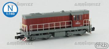N - Diesel-elektrická lokomotiva T466 2037 - ČSD (analog)