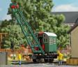 H0 - Parní jeřáb s dřevěnou konstrukcí a podvozkem