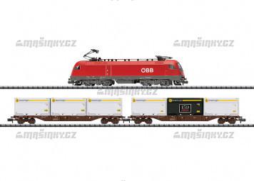 N - Analogový startset s lokomotivou BR 116, dvěma vozy a kolejovým oválem - OBB