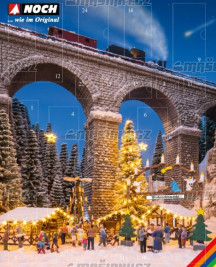 """H0 - Adventní kalendář """"Vánoční trh"""""""