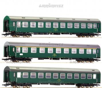 """H0 - Set tří vozů D 375 """"Vindobona"""" - ČSD"""