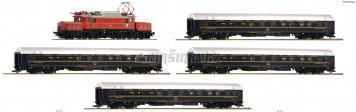 H0 - 5 ks. Sada: Elektrická lokomotiva Rh 1020 a 4 spací vozy (DCC, zvuk)
