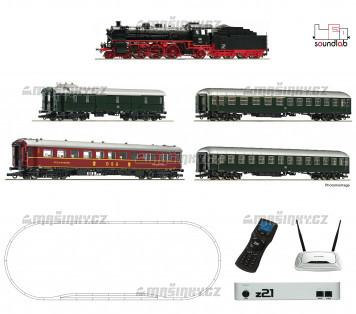 H0 - Startset s ozvučenou lokomotivou BR 18.6 a třemi os. vozy - DB (DCC, zvuk, z21, MM-Wlan)