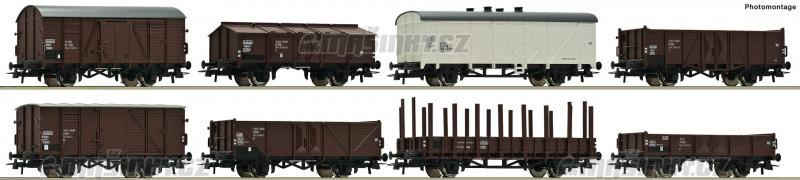 H0 - Set 8 nákladních vozů, ČSD #1