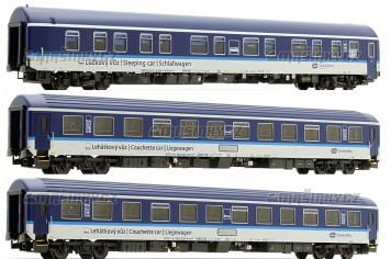 H0 - Set tří vozů Bcmz 834 / WLABmz / WLABmz - ČD