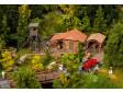 H0 - Lovecká chata s doplňky