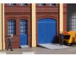 H0 - Vrata a dveře modré, schody, rampy