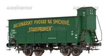 """H0 - Uzavřený pivní vůz L """"STAROPRAMEN"""" - ČSD"""
